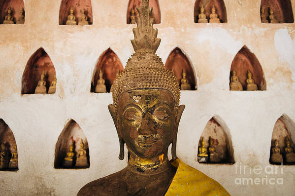 Vientiane Art Print featuring the photograph Vientiane Buddha 2 by Dean Harte