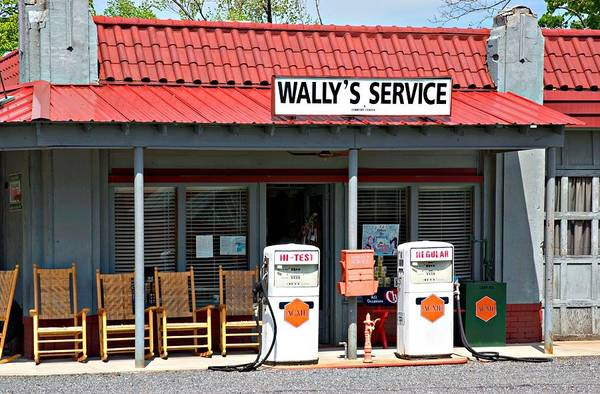 Wally's Service Station Art Print featuring the photograph Wally's Service Station Mayberry Nc by Bob Pardue