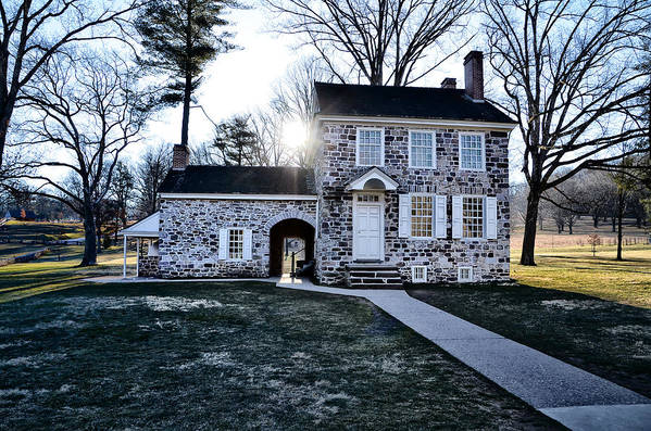 Washingtons Art Print featuring the photograph Washington's Headquarters At Valley Forge by Bill Cannon