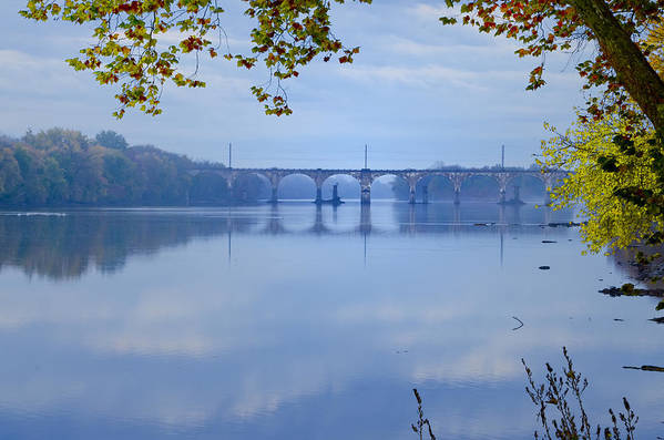 West Trenton Railroad Bridge Art Print featuring the photograph West Trenton Railroad Bridge by Bill Cannon