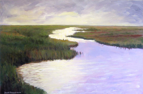 Landscape Art Print featuring the painting Wetlands Glory by David Rickert