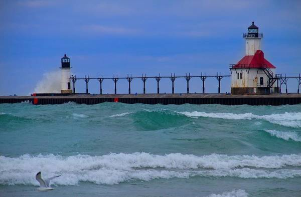 Lighthouse Print featuring the photograph Wild In Saint Joe's by John Absher
