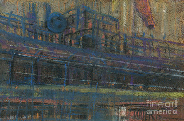 Industrial Art Print featuring the painting Wind Sock by Donald Maier