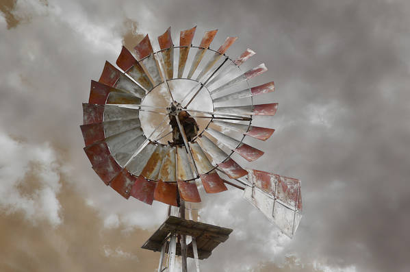 Sky Art Print featuring the photograph Windmill by Steven Michael