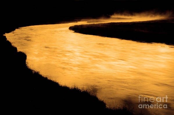 America Art Print featuring the photograph Yellowstone National Park Madison River In Early Morning by Lane Erickson