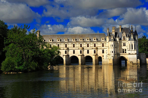 Chateau Art Print featuring the photograph Chateau Chenonceau by Louise Heusinkveld