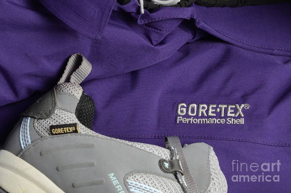 Gore-tex Print featuring the photograph Clothing Technology by Photo Researchers, Inc.