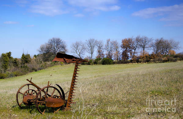 Plow Art Print featuring the photograph Old Plow by Mats Silvan