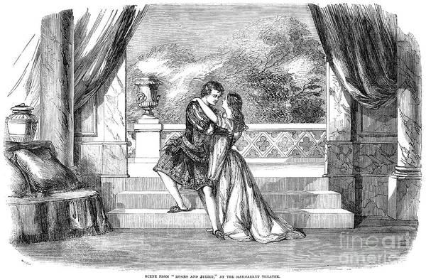 1855 Art Print featuring the photograph Romeo & Juliet by Granger
