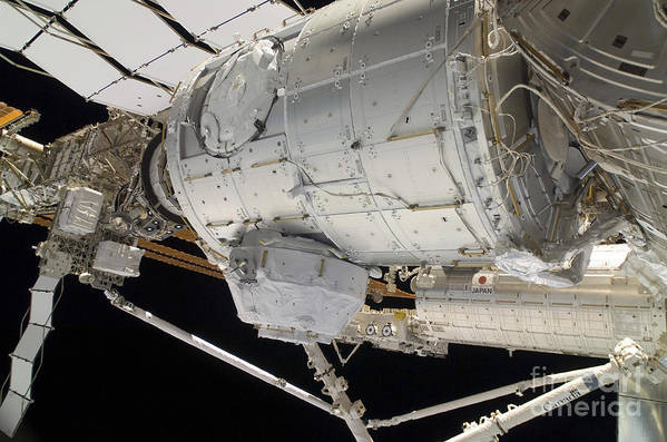Sts-130 Art Print featuring the photograph The Pressurized Mating Adapter 3 by Stocktrek Images