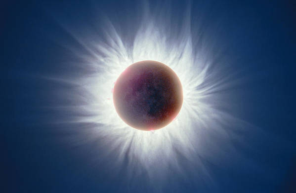 Solar Art Print featuring the photograph Total Solar Eclipse by Dr Fred Espenak