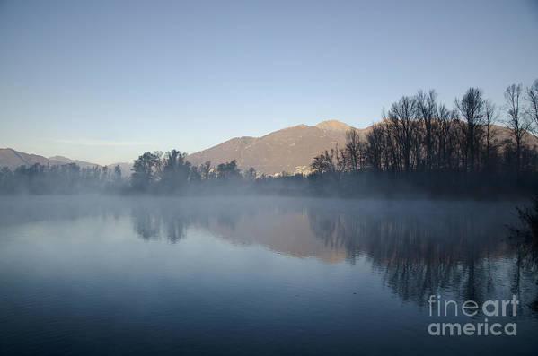Lake Art Print featuring the photograph Foggy Lake by Mats Silvan