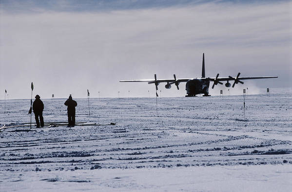 Aeroplane Art Print featuring the photograph Antarctic Airfield by David Vaughan