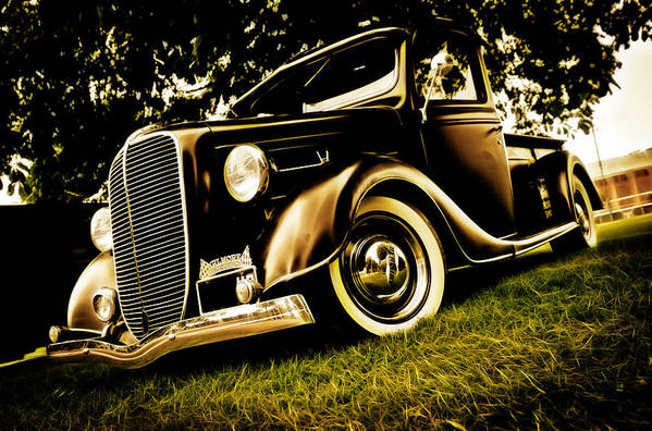 Ford Pickup Art Print featuring the photograph 37 Ford Pickup by Phil 'motography' Clark