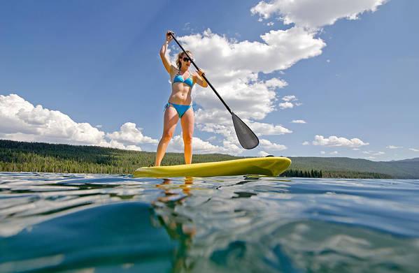 Nikki Tate Art Print featuring the photograph Paddle Board by Elijah Weber