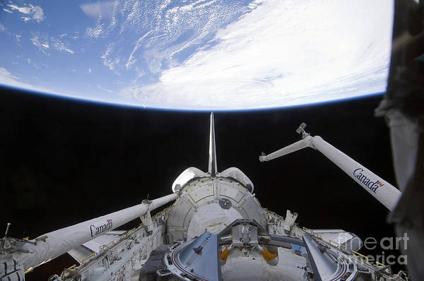 Sts-130 Print featuring the photograph A Partial View Of The Tranquility Node by Stocktrek Images