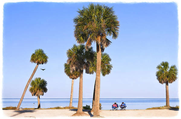 Florida Landscapes Art Print featuring the photograph At The Beach by Betty Eich