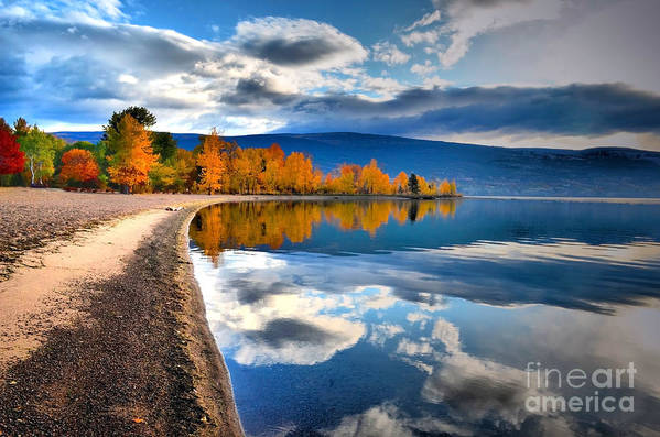Autumn Art Print featuring the photograph Autumn Reflections In October by Tara Turner