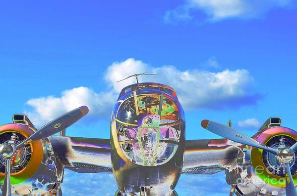 North American B-25j Mitchell Art Print featuring the photograph B-25j Jazzed by Lynda Dawson-Youngclaus