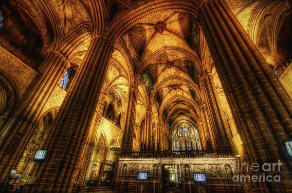 Yhun Suarez Art Print featuring the photograph Barcelona Cathedral by Yhun Suarez