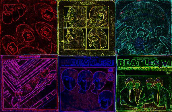Beatles Art Print featuring the digital art Beatles Albums 2 by Brian Roberts