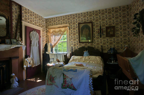 Home Of Anna Jarvis Art Print featuring the photograph bedroom Anna Jarvis by Dan Friend