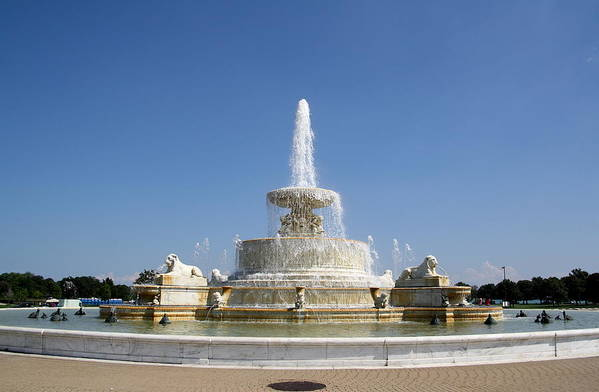 Fountain Art Print featuring the photograph Belle Isle Fountain by Claire McGee