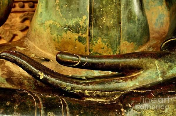 Buddha Art Print featuring the photograph Bhumisparsa Mudra IIi In Colour by Dean Harte