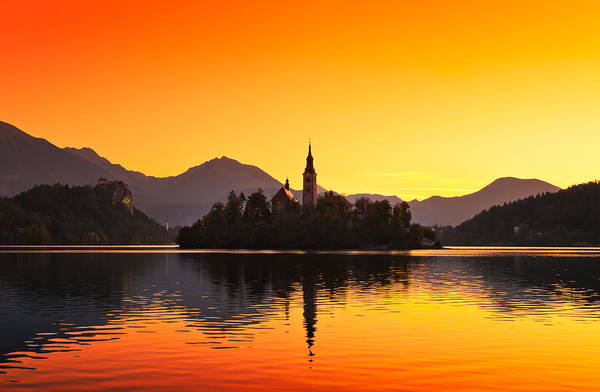 Beautiful Art Print featuring the photograph Bled 01 by Tom Uhlenberg