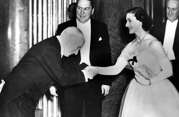 1950s Art Print featuring the photograph Charlie Chaplin Meeting Princess by Everett
