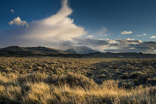 Great Basin Art Print featuring the photograph Clouds Over East Humboldts by Greg Nyquist