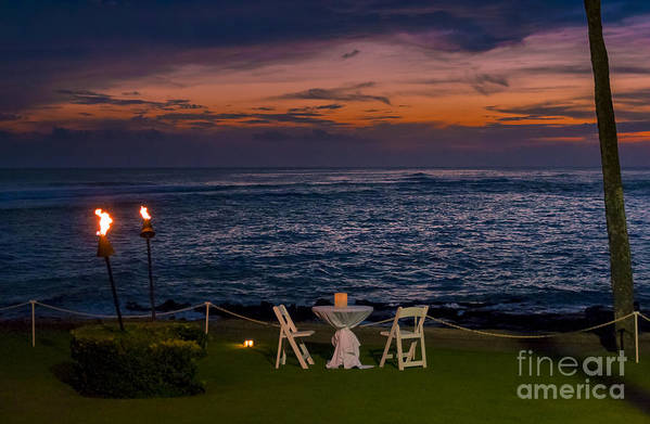 Summer Art Print featuring the photograph Dinner Setting In Paradise by Darcy Michaelchuk