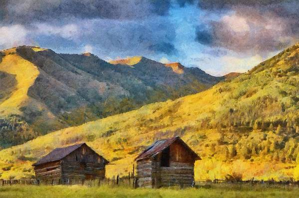 Colorado Print featuring the painting Distant Storm by Jeff Kolker