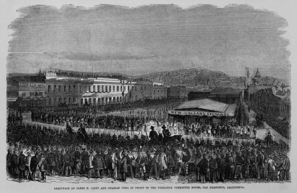 History Art Print featuring the photograph Execution Of James P. Casey And Charles by Everett