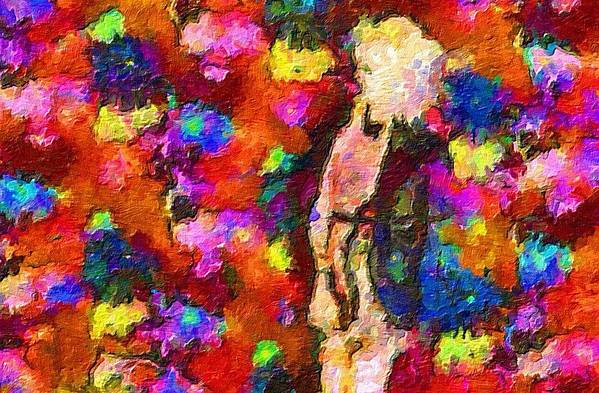 Impressionist Fashion Painting Art Print featuring the painting Fashion 66 by Jacques Silberstein