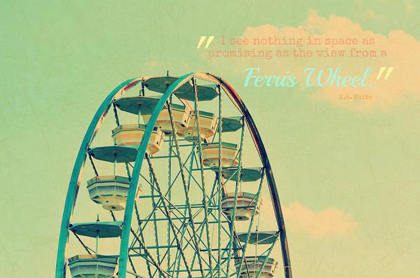 Ferris Wheel Art Print featuring the photograph Ferris Wheel by Robin Dickinson