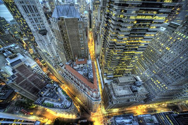 Horizontal Art Print featuring the photograph Financial District New York City by Tony Shi Photography