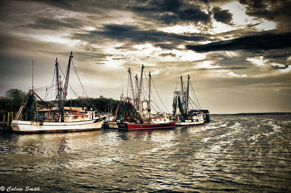 Art Print featuring the photograph Fishing Boats by Calvin Smith