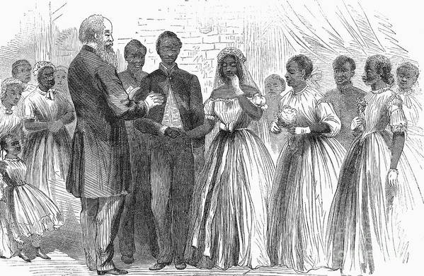 1866 Art Print featuring the photograph Freedmen: Wedding, 1866 by Granger