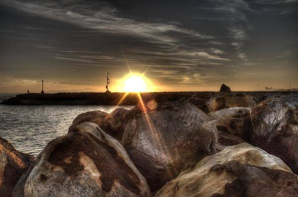 Sunset Art Print featuring the photograph Gordons Bay Series 1 by Donne Beukes