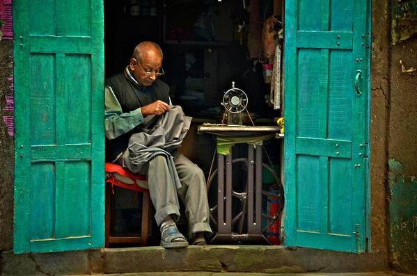 Kathmandu Art Print featuring the photograph Handsewn With Care by Valerie Rosen