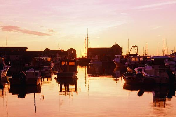 Attractions Art Print featuring the photograph Harbor At Sunrise by Bilderbuch