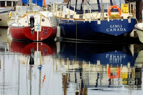 Fishing Boats Art Print featuring the photograph Harbor Reflections by Bob Christopher