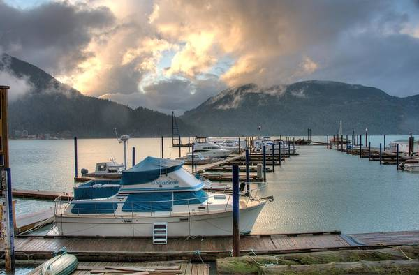 Harrison Art Print featuring the photograph Harrison Lake At Dusk by Lawrence Christopher