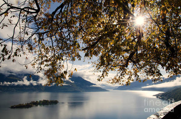 Islands Art Print featuring the photograph Islands On A Lake In Autumn by Mats Silvan
