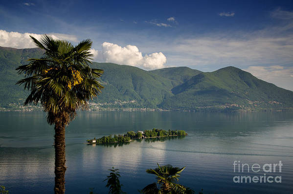 Island Art Print featuring the photograph Islands On An Alpine Lake by Mats Silvan