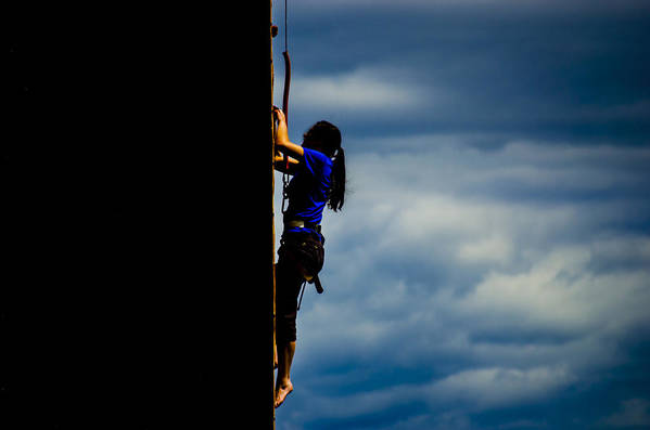 Active Art Print featuring the photograph Just Climb by S R Longstroth