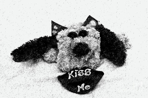 Bw Art Print featuring the photograph Kiss Me by Karl Voss