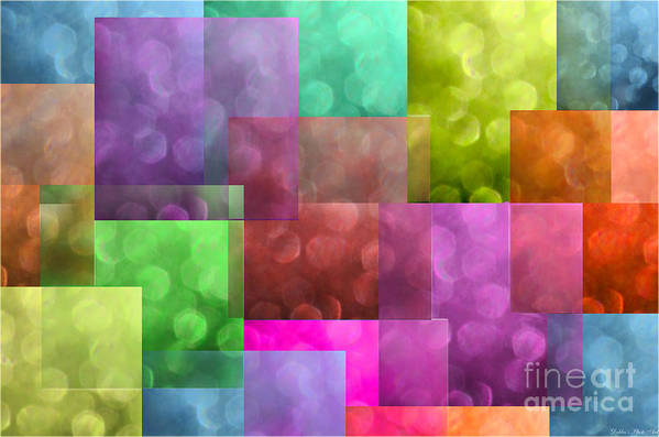 Abstract Art Print featuring the photograph Layered Tiles Abstract by Debbie Portwood