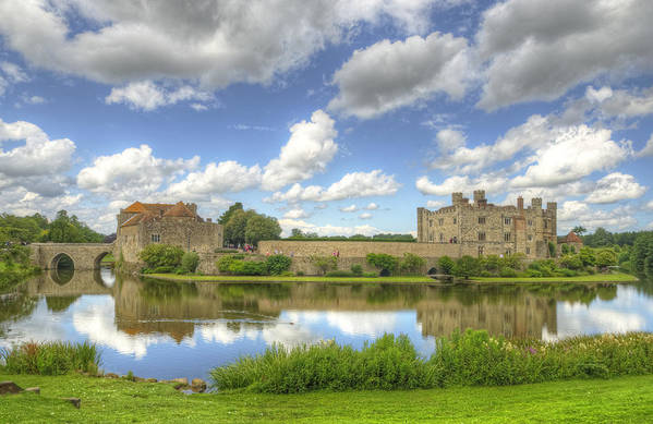Castle Art Print featuring the photograph Leeds Castle Reflected by Chris Thaxter